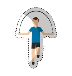 athlete avatar character jump rope icon vector image vector image