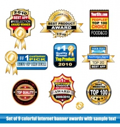 certification stickers vector image