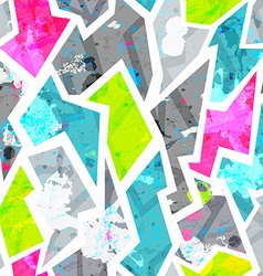 grunge seamless pattern with blots effect vector image