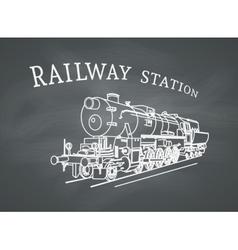 Retro steam locomotive vector