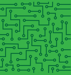 seamless background with microcircuit vector image
