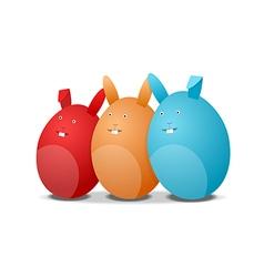 Three eggs - rabbits vector image vector image