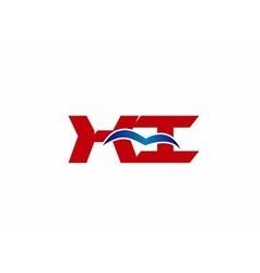 Xi company linked letter logo vector