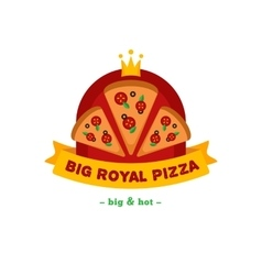 bright pizza restaurant logo Brand sign vector image