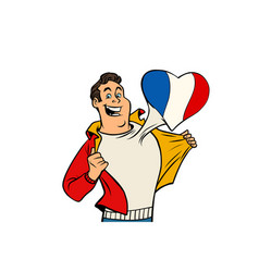 france patriot man isolated on white background vector image vector image