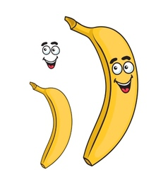 Happy smiling yellow cartoon banana fruit vector image vector image