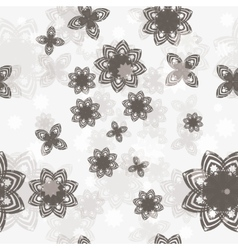 seamless background with flower vector image