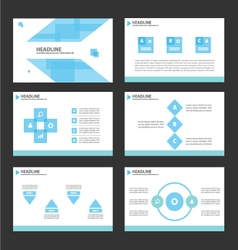 Blue presentation templates Infographic elements vector image vector image