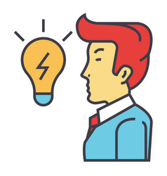 creative businessman great business idea is in vector image