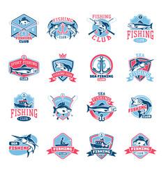 fishing logo fishery logotype with vector image