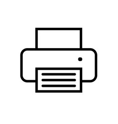 printer icon in flat style vector image