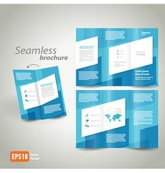 seamless brochure design template vector image vector image