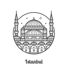 travel istanbul icon vector image