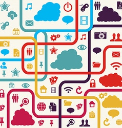 Colorful Social media background vector image