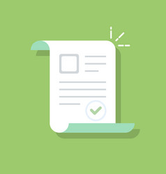 documents icon confirmed or approved document vector image vector image