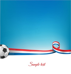 france background with soccer ball vector image