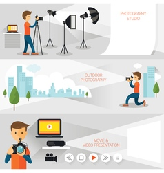 Photographer Photography Concept Banner vector image