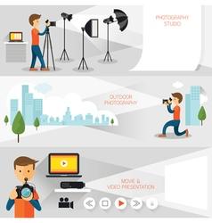 Photographer photography concept banner vector