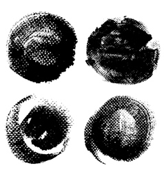 Round textured prints with paint on paper vector image vector image