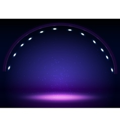 Stage lights circle projectors in the dark vector image