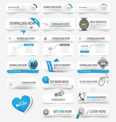 Web design template elements Navigation buttons vector image