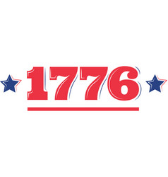 1776 on white background vector image