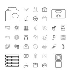 37 box icons vector