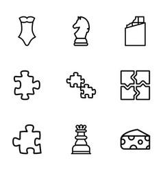 9 piece icons vector