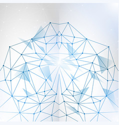 abstract polygonal space low poly background vector image