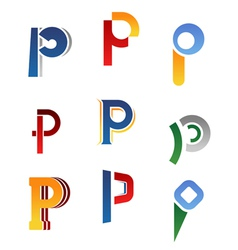 Alphabet symbols vector