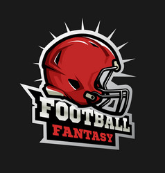 American football modern logo fantasy football vector