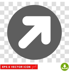 Arrow Up Right Round Eps Icon vector image