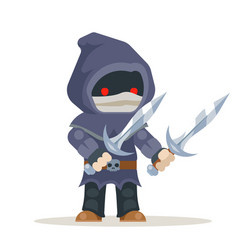 Assassin outlaw thief burglar fantasy medieval vector
