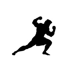 Athlete sportsman silhouette strong male vector