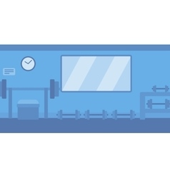 Background of gym with equipment vector
