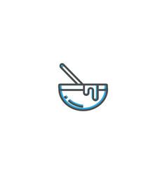 bowl icon design gastronomy icon vector image