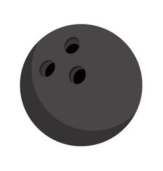 bowling ball on white cartoon flat style vector image