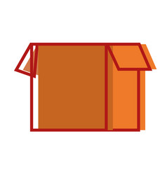 Box package open object design vector