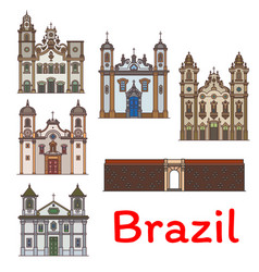 brazilian travel landmark icon for tourism design vector image