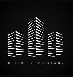 building company logo vector image