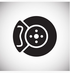 Car brake disc on white background for graphic and vector
