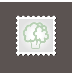 Cauliflower stamp Outline vector