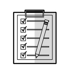 Checklist clipboard isolated icon vector