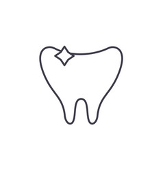 clean tooth line icon concept clean tooth vector image