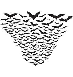 cloud bats vector image