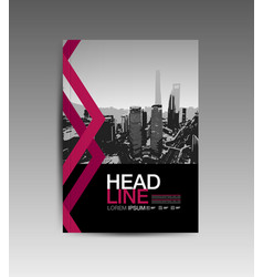 cover book template layout design annual report vector image