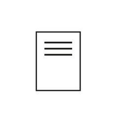 document icon page icon file icon vector image