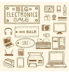 Electronics sale vector