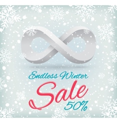 Endless winter sale vector image