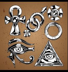 eye horus egypt illuminati vector image